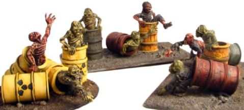 Eureka 28mm toxic zombies