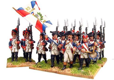 28mm French infantry 1792-1807 from Eureka Miniatures