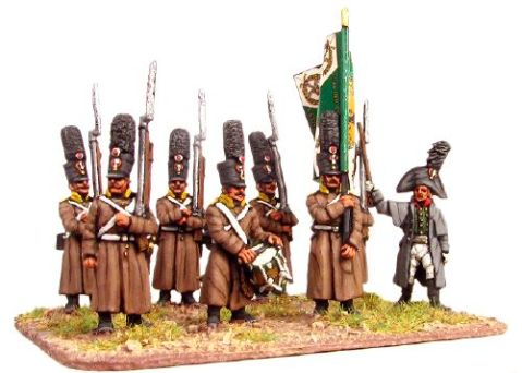 15mm AB early Napoleonic Russians in greatcoat