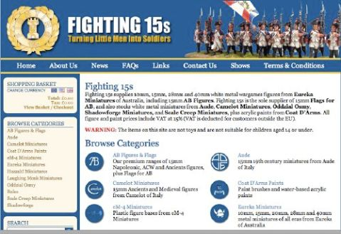 Fighting 15s' new website