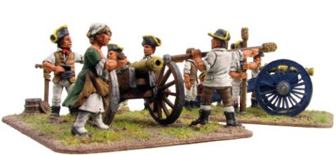 Ragged Continental artillery, Eureka Miniatures, 28mm