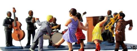 Eureka Miniatures: 28mm jazz band and dancers