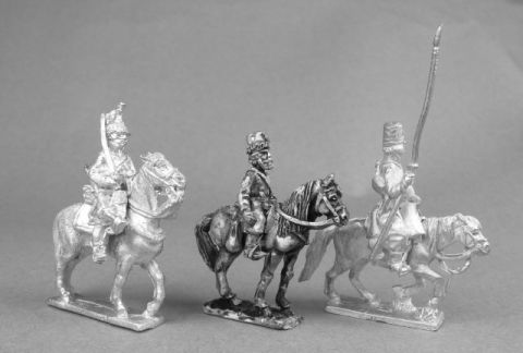 Height comparisons (left to right): AB French dragoon, Oddzial Osmy cossack, AB cossack