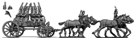 Eureka Miniatures 28mm Wars of the French Revolution: Horse artillery on wurst caisson