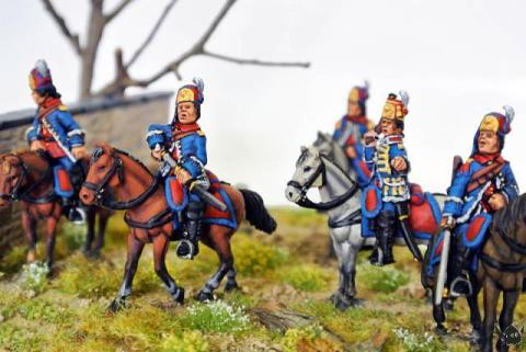 Eureka Miniatures 28mm mounted Arquebusiers de Grassin