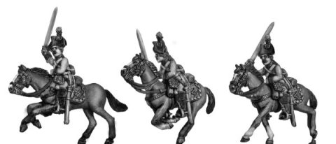 28mm Eureka Miniatures: Austrian cuirassiers 1792-98, charging