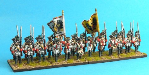 The Puebla regiment proudly bears its new flags. Figures by Eureka Miniatures