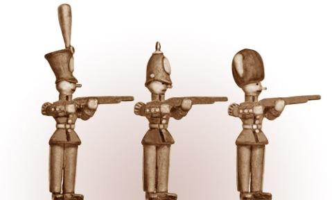 28mm Eureka Miniatures: Toytown Soldiers firing