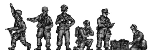 20mm AB Figures: Fallschirmjager officers and radio ops