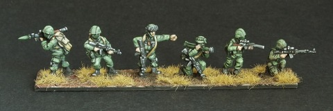 Oddzial Osmy 15mm moderns: MD-1502 snipers, RPGs and command