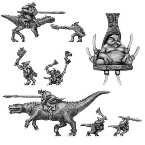 400FAN109 Lizard Warrior characters